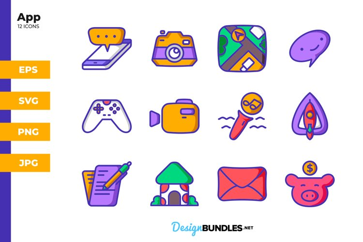 App Icons - Filled Line example image 1