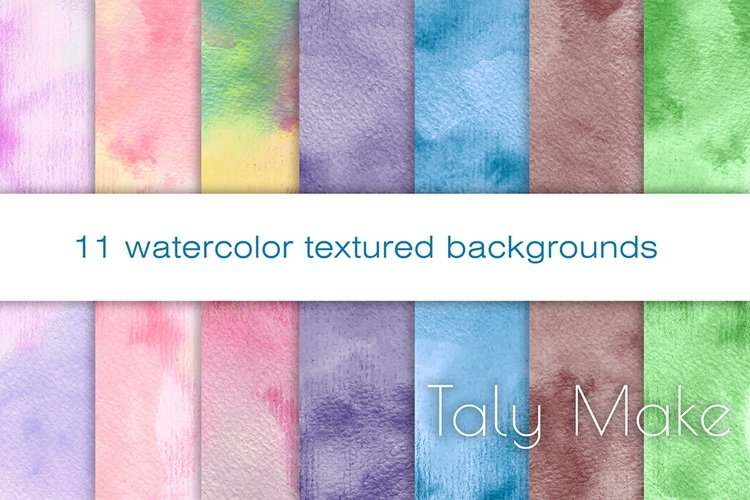 Abstract watercolor gradient texture backgrounds example image 1