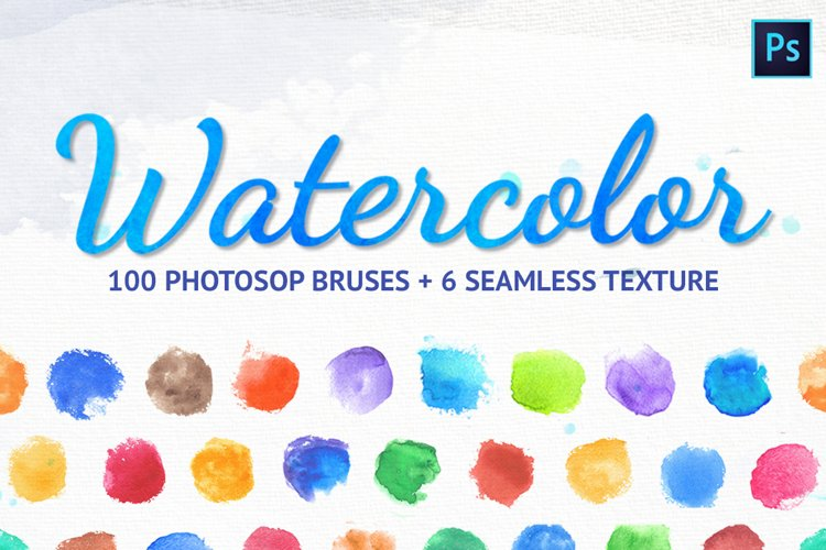 Watercolor brushes for Photosop