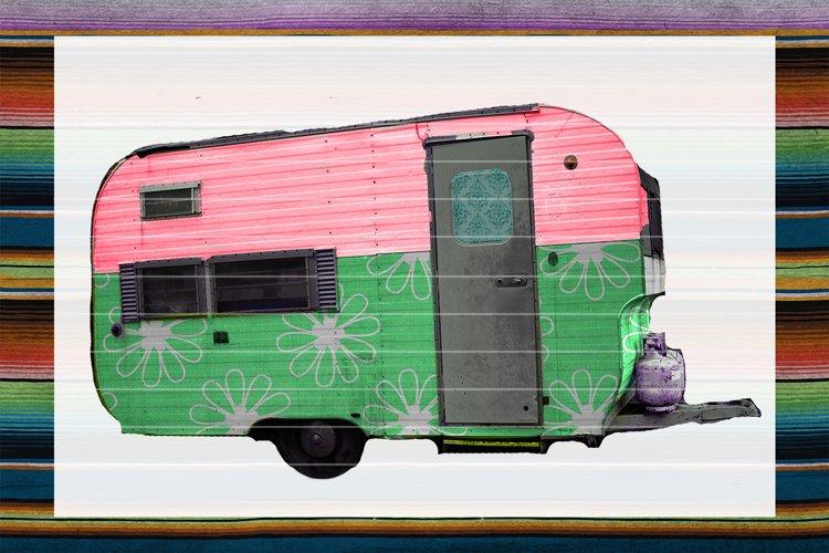 Green Floral Camper Sublimation Digital Download example image 1
