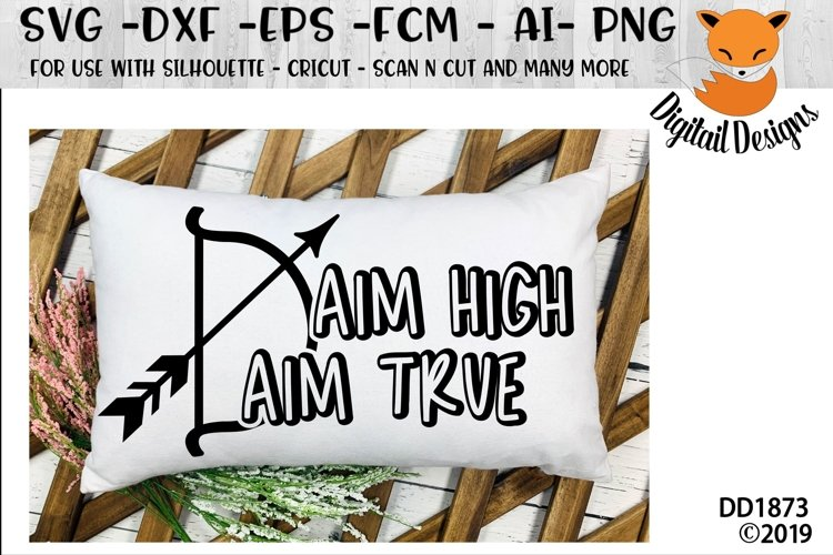 Aim High Aim True Archery SVG