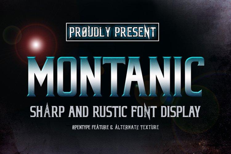 MONTANIC FONT DISPLAY
