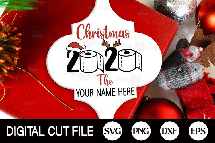 2020. Christmas Ornament SVG, Arabesque, Toilet Paper PNG example image 1