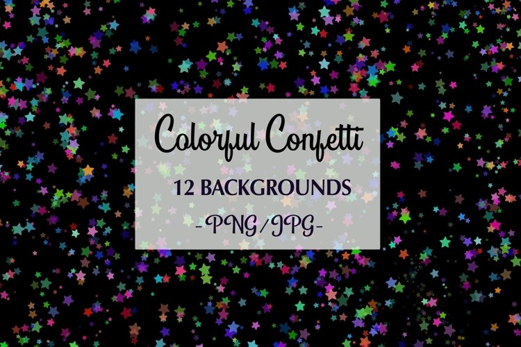 12 Colorful Confetti Backgrounds png, jpg example image 1