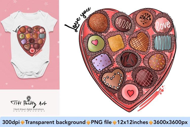Love You Candy Sublimation Design PNG, Valentines Day Bundle