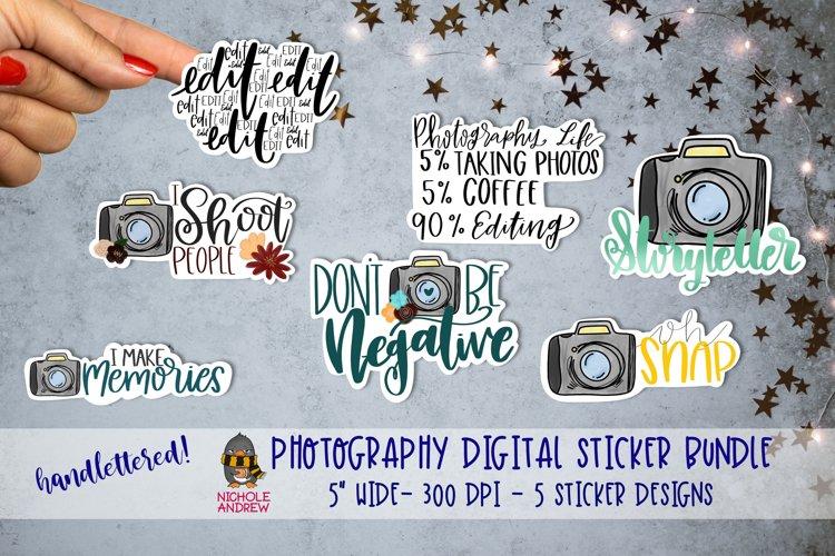 Photography Digital Sticker Bundle - Hand Lettered! example image 1