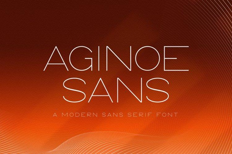Aginoe - Modern Sans Serif Font example image 1