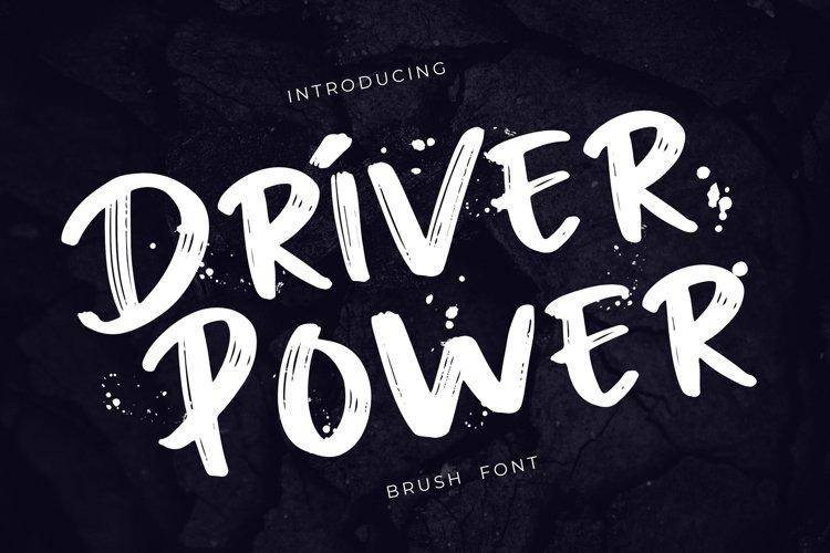Driver Power Brush Grunge Font example image 1
