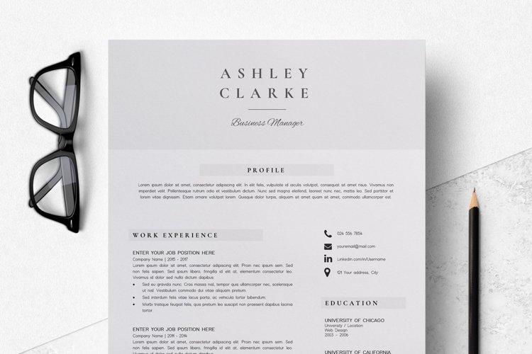 Resume Template   CV Cover Letter - Ashley Clarke