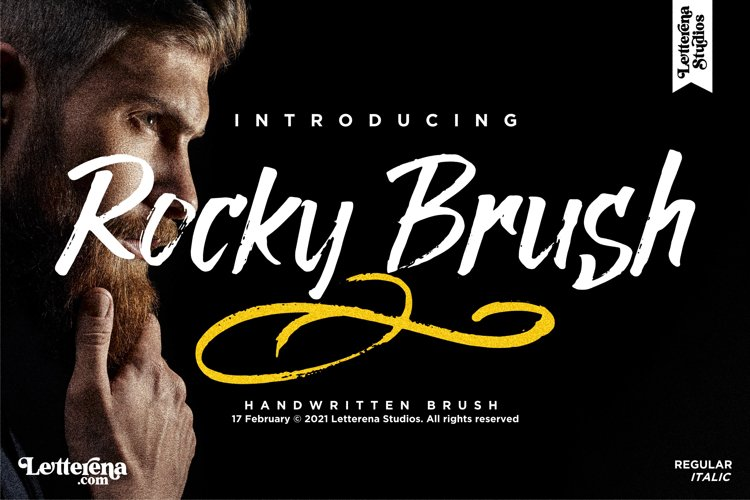 Rocky Brush - Brush Font example image 1