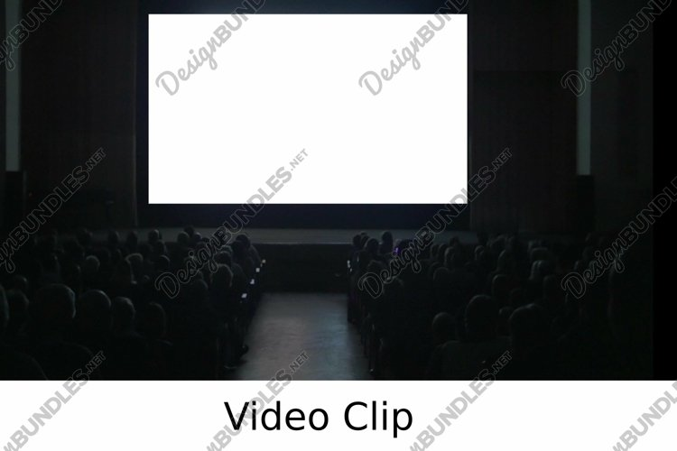 Video: Viewers in dark cinema hall with blank screen