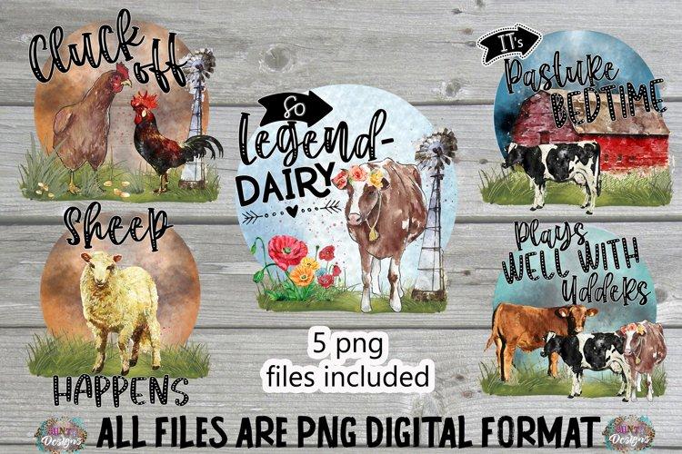 Funny Farm Pun Sublimation Bundle