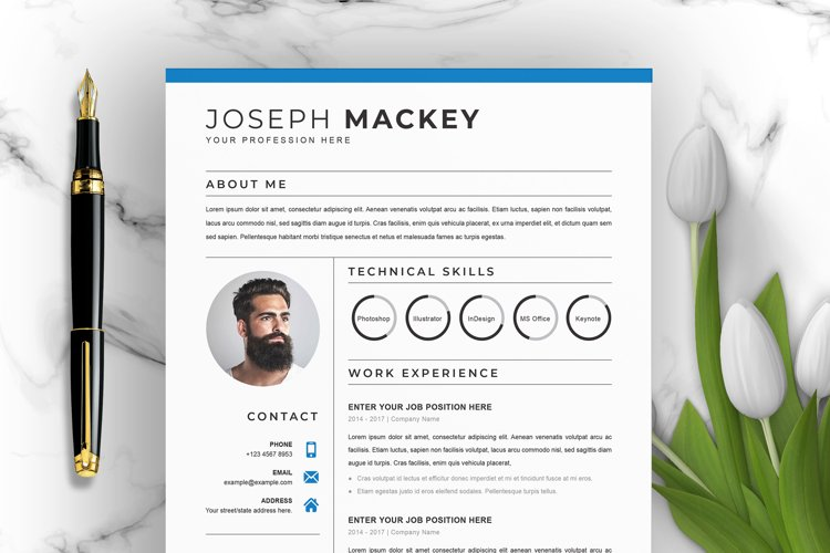 Clean Word Resume Template example image 1