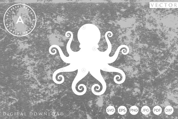 Octopus | Paper Cut SVG example image 1