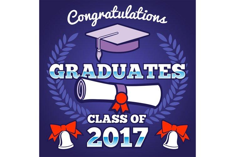 Students congratulating graduation vector background. Gradua