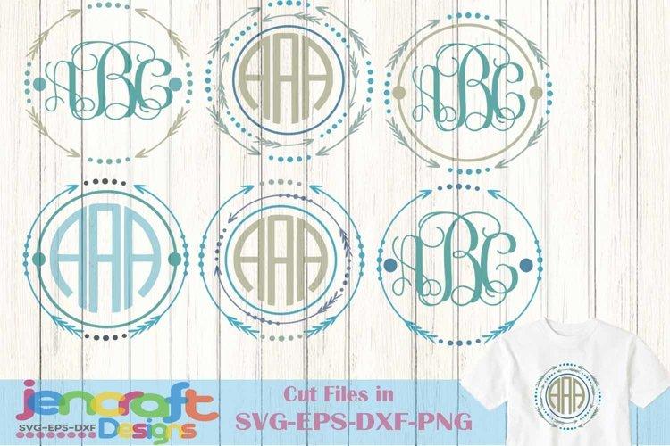 Arrow SVG Monogram Frame Svg, Eps, Dxf, Png