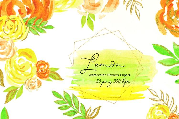 yellow flowers watercolor,summer flowers,Everlasting Flower