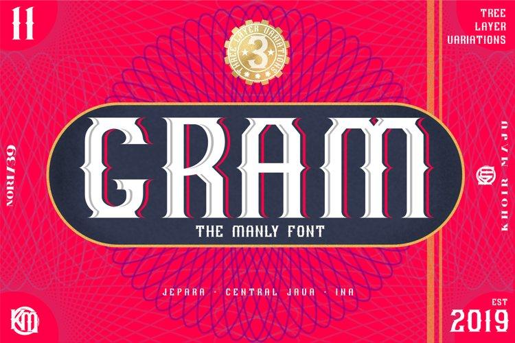 GRAM - New Font Display example image 1