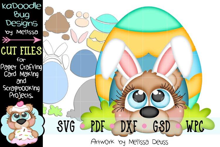 Easter Egg House Bear Cut File - SVG PDF DXF GSD WPC