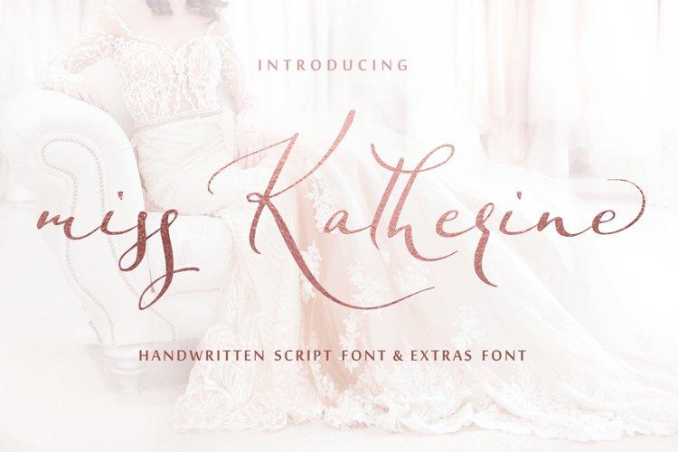 Miss Katherine font + Extras & Logo example image 1