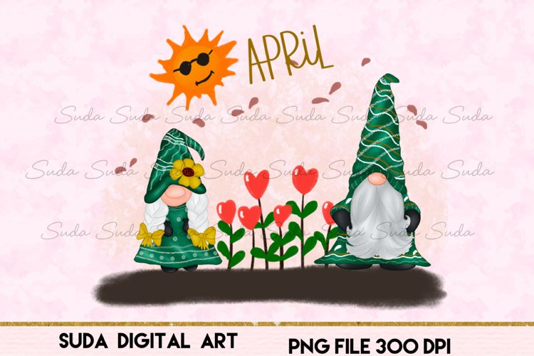 April Calendar Design Sublimation example image 1