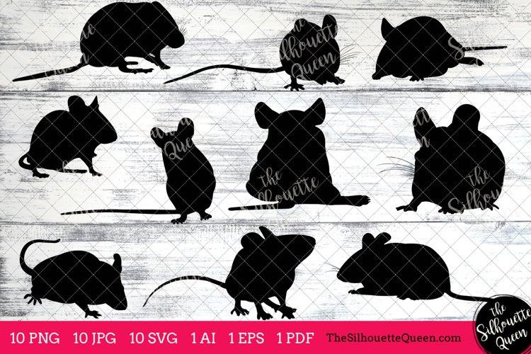 Mouse Silhouette Clipart Clip Art(AI, EPS, SVGs, JPGs, PNGs, PDF), Mouse  Clip Art Clipart Vectors - Commercial   Personal Use