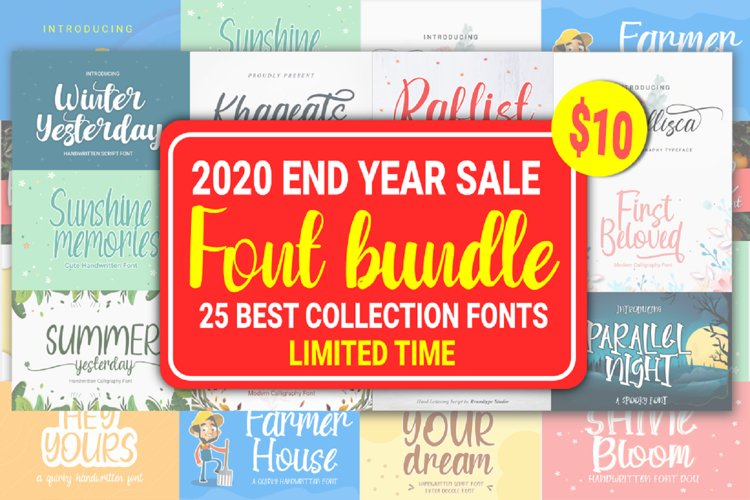 End Year Sale Font Bundle example image 1