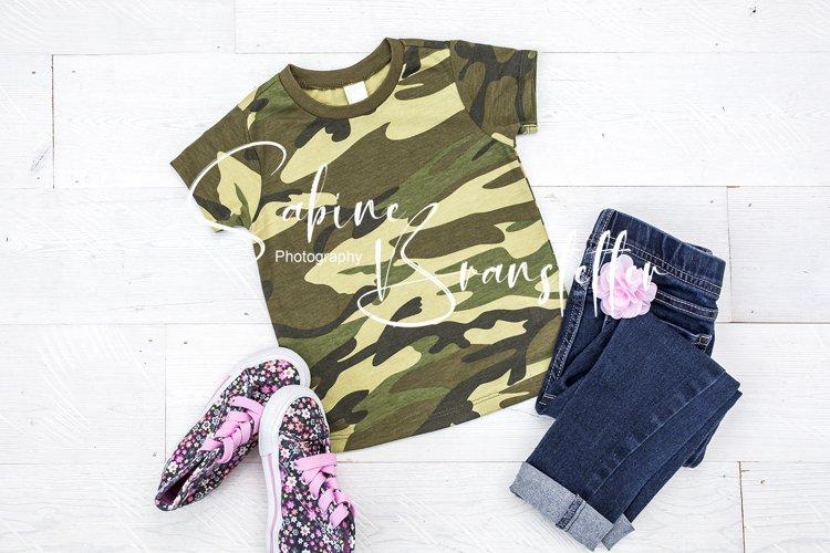 Mockup Girl Camo Military/Hunting T-shirt Photography