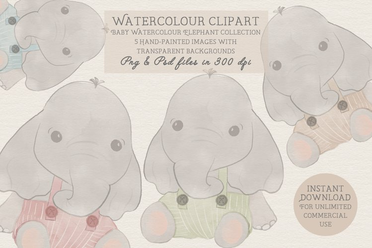 Elephant Baby Shower Clipart, Baby