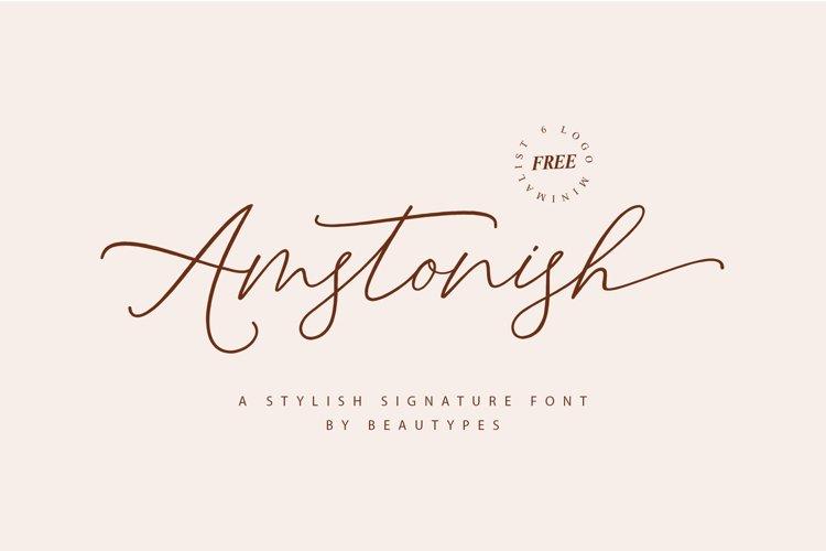 Amstonish Signature | Free 6 Logo minimalist example image 1