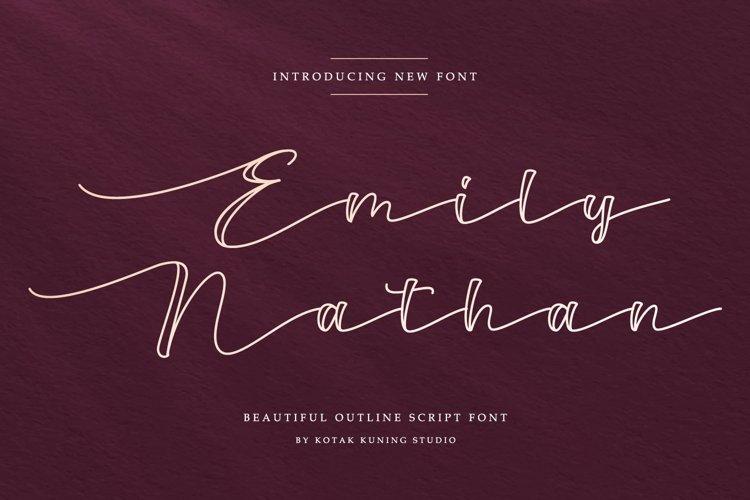 Outline Script Font - Emily Nathan