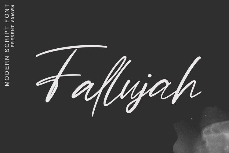 Fallujah   Modern Script Font example image 1