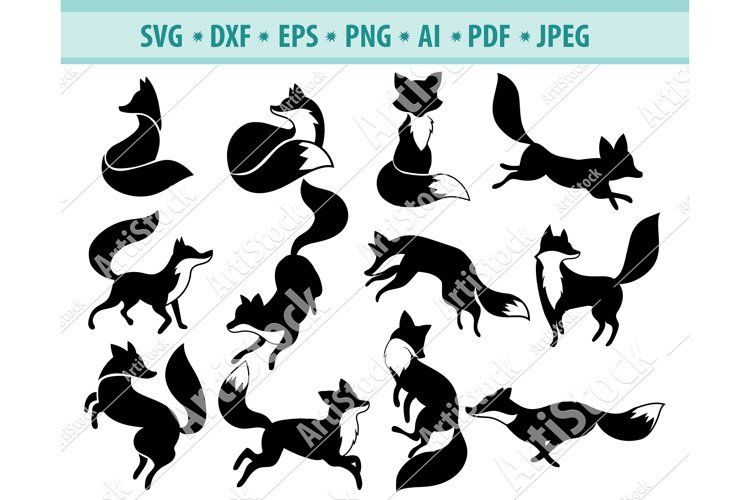 Fox Svg Bundle, Foxes SVG, Cute Sleeping Fox Png, Dxf, Eps example image 1