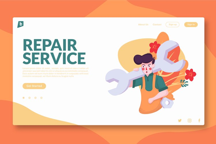 Repair Service - Landing Page example image 1