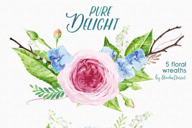 FlowerWreaths Watercolor Illustrations example 1