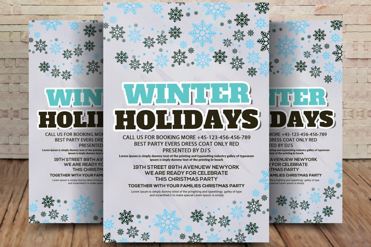 Winter Holiday Flyer example image 1