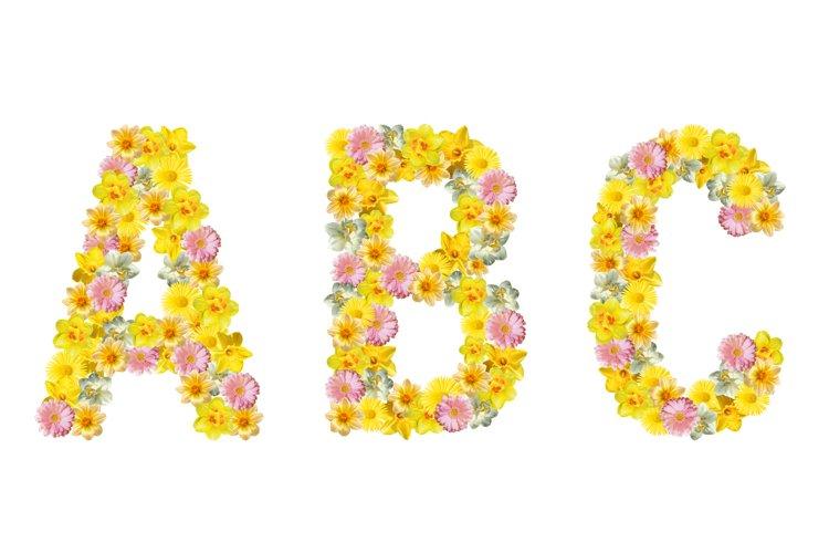 Flower alphabet.