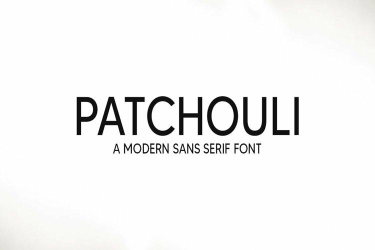 Web Font Patchouli - a modern sans serif font example image 1