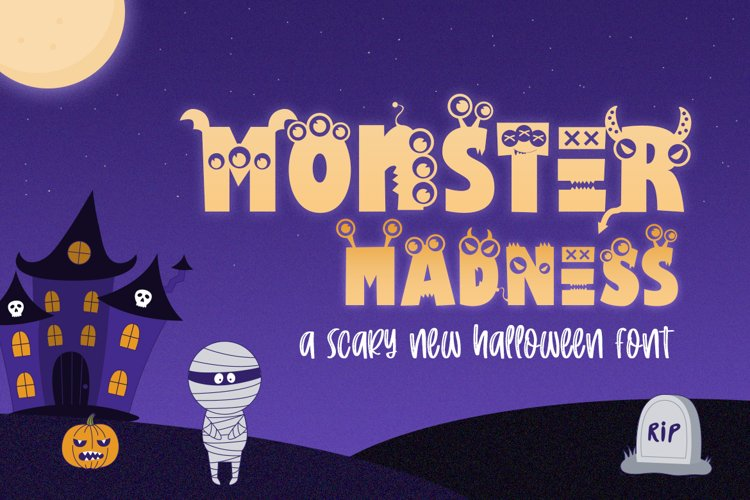 Monster Madness Font example image 1