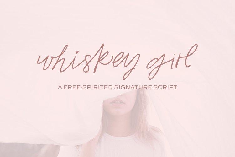 Whiskey Girl Signature Font example image 1