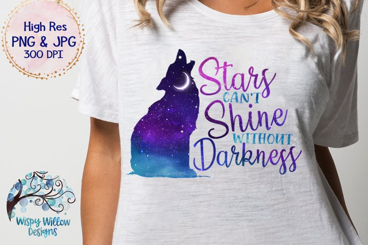 Stars Can't Shine Without Darkness PNG | Galaxy Sky Wolf PNG - Free Design of The Week Design1