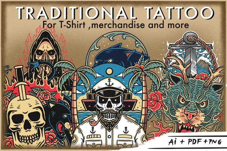Bundle traditional tattoo design example image 1