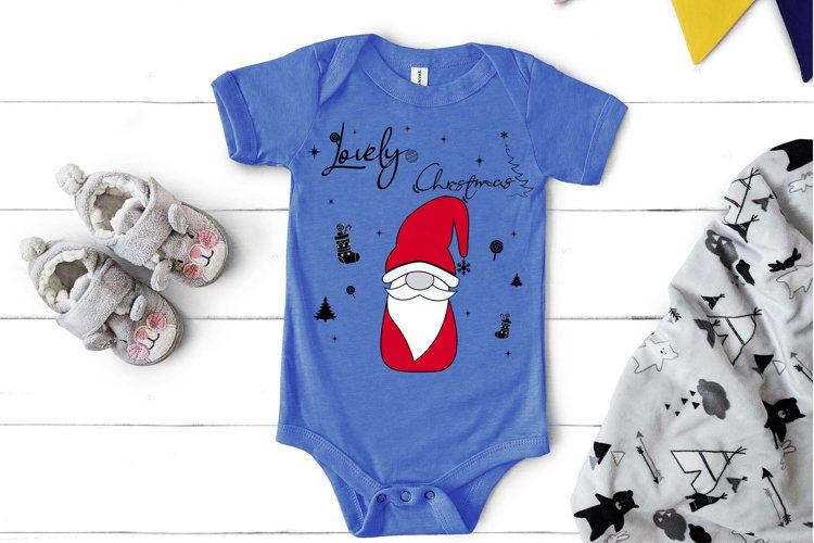 Noel Xmas SVG 04, Gnome, Merry Christmas, Kids Funny example image 1