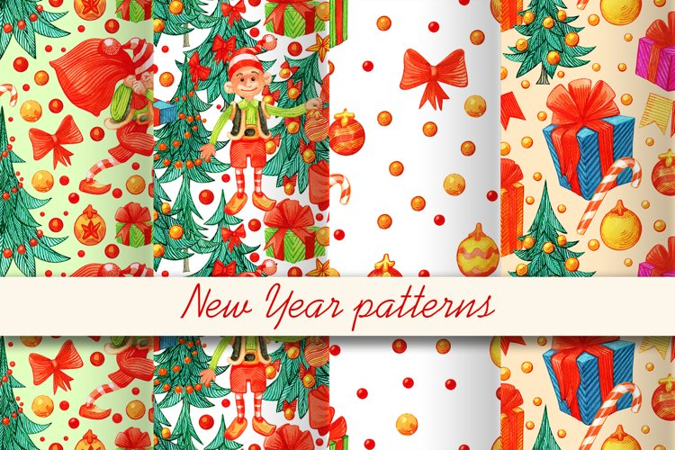 New Year patterns
