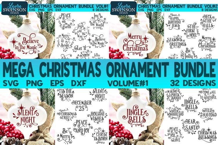 Mega Christmas Ornament Bundle Vol#1 | Christmas SVG Bundle example image 1