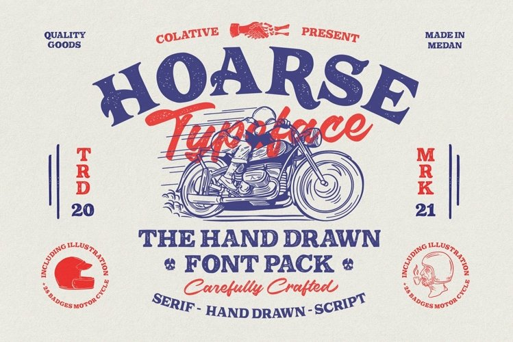 HOARSE   Font Pack