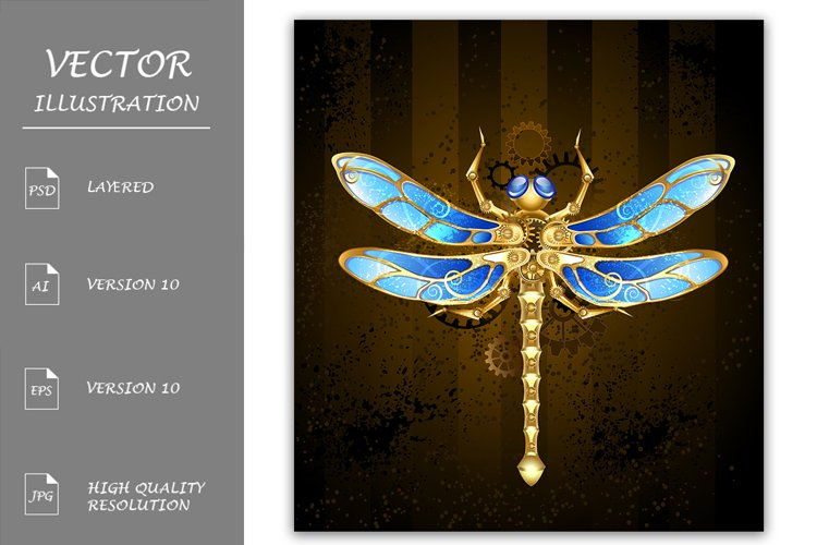Mechanical Dragonfly ( Steampunk ) example image 1