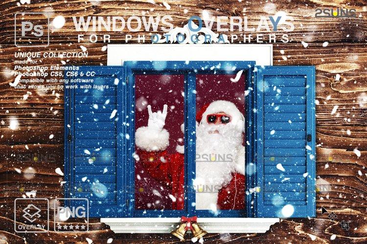 Window Frames Overlays Christmas Freeze Holiday photoshop example image 1