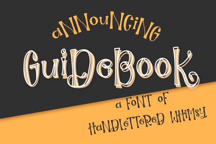 Guidebook - Hand lettered Whimsy Font example image 1