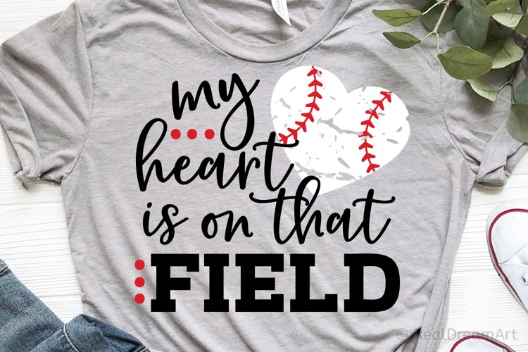My Heart is on that Field SVG, DXF, PNG, EPS